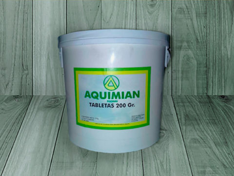 Aquimian tabletas T.A. 200 g – Bidón de 5 Kg
