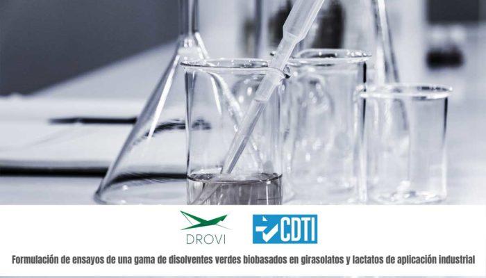El CDTI concede ayuda para investigación y desarrollo de nuevos disolventes a DROGAS VIGO S.L