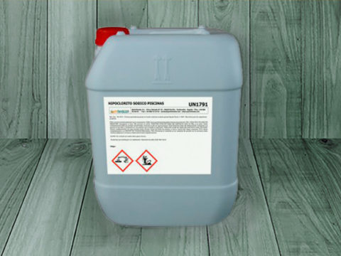 Sodium hypochlorite pools – 25 kgs can